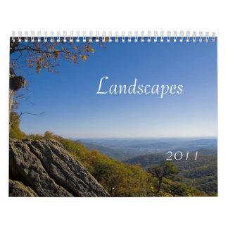 Landscapes 2011 wall calendar