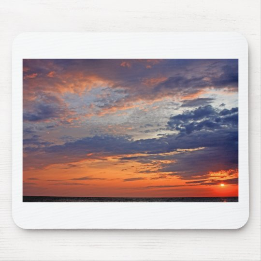 Landscapes and Lighthouses - Lake Erie Sunset Mouse Mat