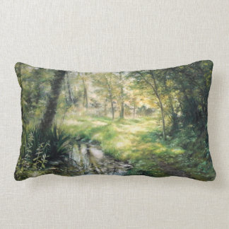 Landscapes of nature of Girona and Navarre Lumbar Pillow