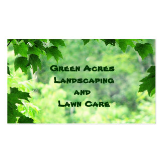 Landscaping and Lawn Care Service Double-Sided Standard Business Cards (Pack Of 100)