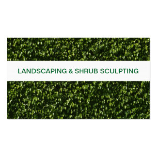 Landscaping And Lawn Service Pack Of Standard Business Cards