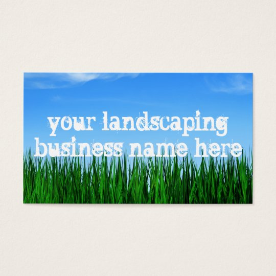 landscaping business business card