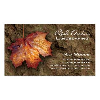 Landscaping Business Card Rock Maple Leaf