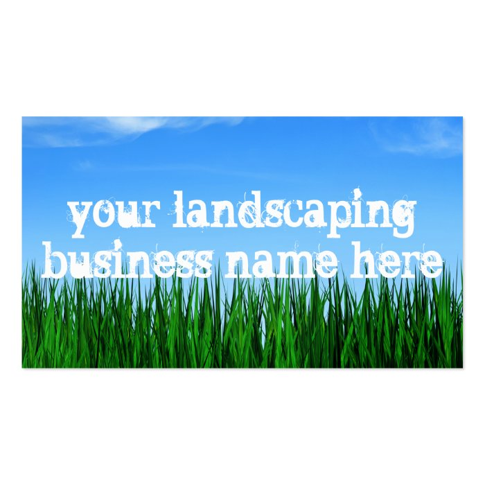 landscaping business pack of standard business cards