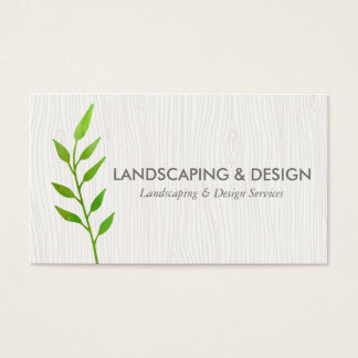 Landscaping & Design Modern Business Card