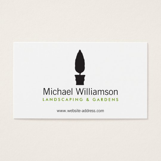 Landscaping, Gardening Topiary Logo Business Card