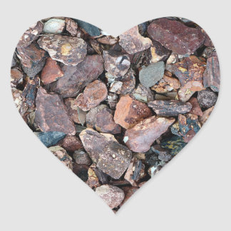 Landscaping Lava Rock Rubble and Stones Heart Sticker