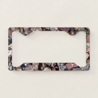 Landscaping Lava Rock Rubble and Stones Licence Plate Frame