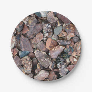 Landscaping Lava Rock Rubble and Stones Paper Plate