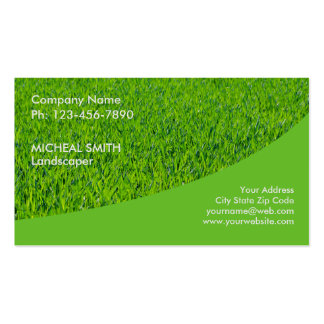 Landscaping Lawn Care Gardener Pack Of Standard Business Cards