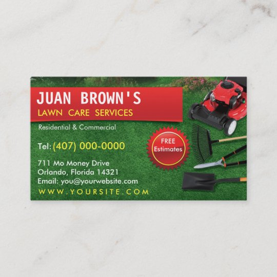 Landscaping lawn care mower business card template zazzle landscaping lawn care mower business card template publicscrutiny Image collections