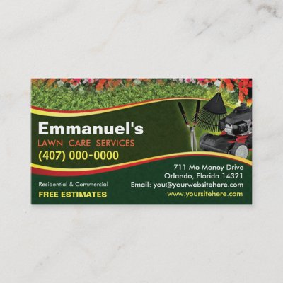 Landscaping lawn care mower business card template zazzle cheaphphosting Gallery