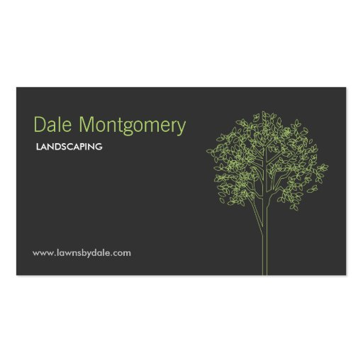 Landscaping, Lawn Care, Trees, Gardener Business Cards