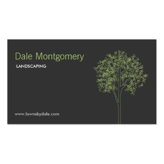 Landscaping, Lawn Care, Trees, Gardener Pack Of Standard Business Cards