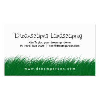 Landscaping Lawn Care Wild Grass Business Card