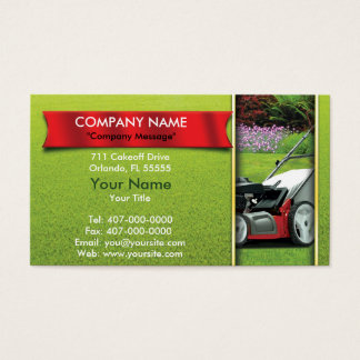 Landscaping Lawn Mower Lawn Care Business Card