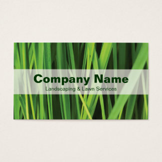 Landscaping & Lawn Services Nature Business Card
