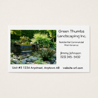 Landscaping or Gardening  Business Card Template