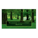 Landscaping or Lawn Care Service Company Business Card Template