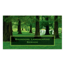 Landscaping or Lawn Care Service Company Pack Of Standard Business Cards