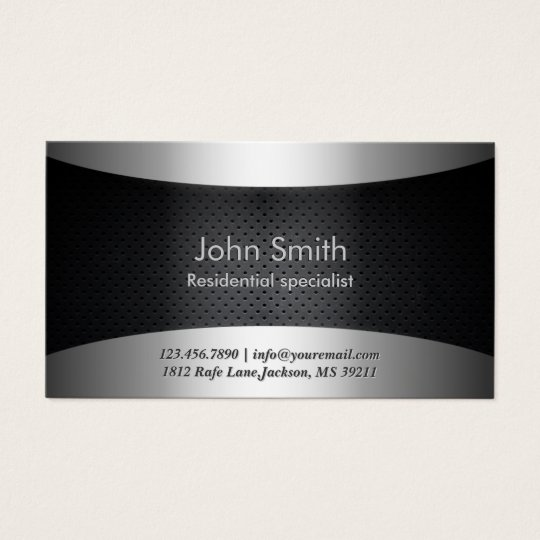 Landscaping Professional Carbon Black Modern Business Card