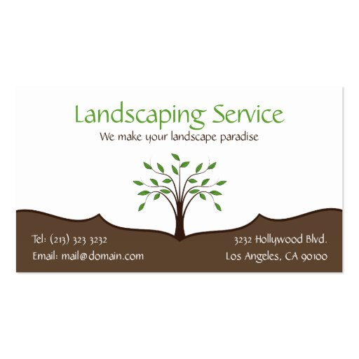 Sj Landscapes And Gardening Services: Create Your Own Gardener Business Cards