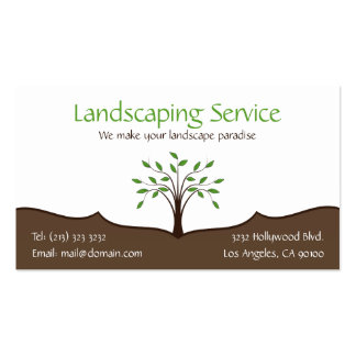 Landscaping Service Business Card 2-sided