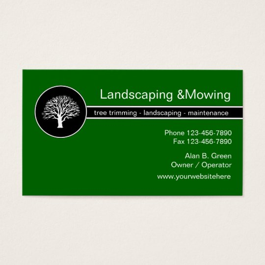 Landscaping Service Business Cards