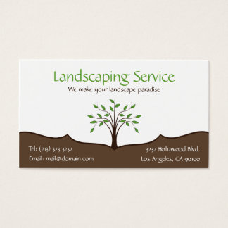 Landscaping Service Elegant Tree Nature Logo
