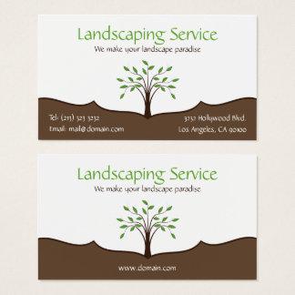 Landscaping Service Elegant Tree Nature Logo Business Card