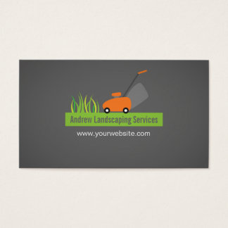 Landscaping Services, Lawn Mower Business Card