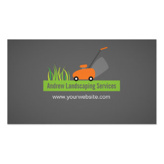 Landscaping Services, Lawn Mower Pack Of Standard Business Cards