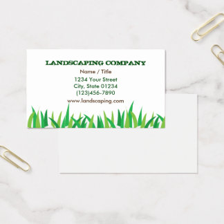 Landscaping Single Sided Business Card