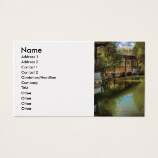 Landscaping - The Chinese Garden Business Card