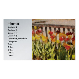 Landscaping - Tulips - Retirement can be sweet Pack Of Standard Business Cards