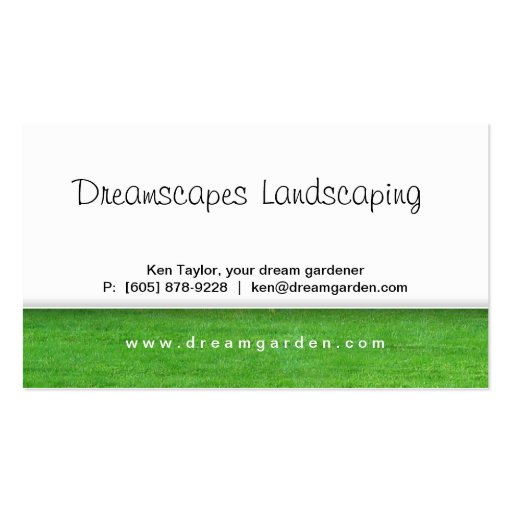 Landscaping Weed Before After Business Card