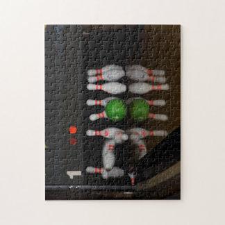 Lane 1 Bowling Strike Jigsaw Puzzle
