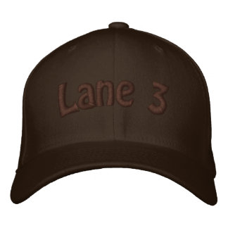 Lane 3 embroidered hat
