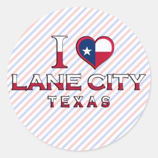 Lane City, Texas Stickers