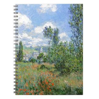 Lane in the Poppy Fields - Claude Monet Notebook