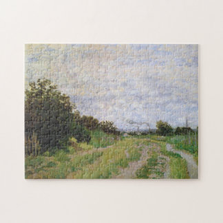 Lane in Vineyards Argenteuil Monet Fine Art Jigsaw Puzzle
