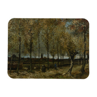 Lane with Poplars by Van Gogh Vinyl Magnet