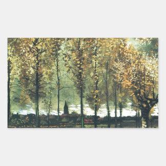 Lane with Poplars painting by Vincent Van Gogh Rectangular Sticker
