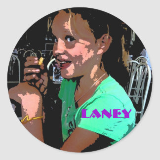 Laney Round Sticker