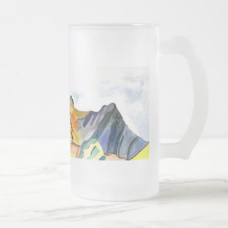 Langdale Pikes. Frosted Glass Beer Mug