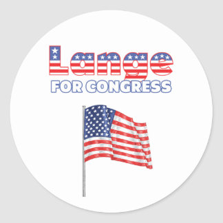 Lange for Congress Patriotic American Flag Stickers