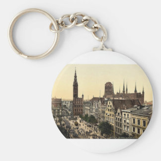 Langen Market and Court House Danzig West Prussi Key Chains