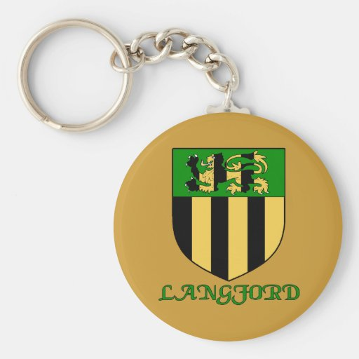 Langford Family Shield Keychain