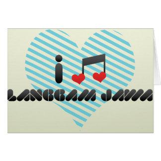 Langgam Jawa fan Greeting Card