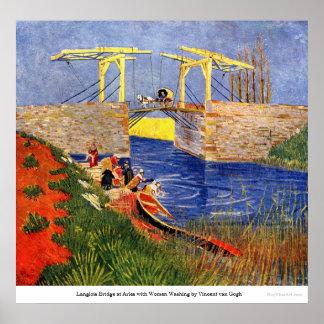 Langlois Bridge at Arles by van Gogh Posters